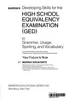 Barron's Developing Skills for the High School Equivalency Examination (GED) in Grammar, Usage, Spelling, and Vocabulary