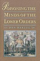 Poisoning the Minds of the Lower Orders PDF
