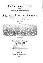 Jahresbericht fur Agrikultur-Chemie: Band 20