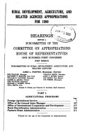 Rural Development  Agriculture  and Related Agencies Appropriations for 1990  Agricultural programs PDF