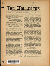 The Collector: A Monthly Magazine for Autograph and Historical Collectors, Volume 23, Issue 1