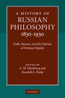 A History of Russian Philosophy 1830   1930 PDF