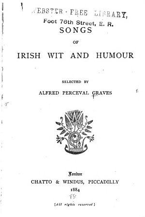 Songs of Irish Wit and Humour PDF