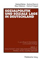 Sozialpolitik und soziale Lage in Deutschland PDF