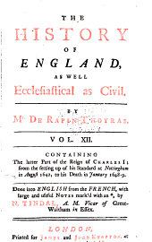 The History of England: As Well Ecclesiastical as Civil, Volume 12