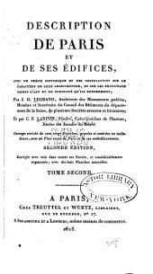 Description de Paris et de ses édifices: Volume2