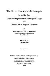 The Secret History of the Mongols PDF