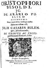 De Aerario Publico Discursus