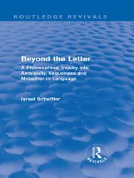 Beyond the Letter  Routledge Revivals  PDF