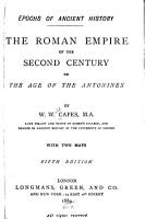 The Roman Empire of the Second Century  Or  The Age of the Antonines PDF