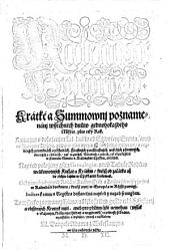 Kalendar Hystorycky. Kratke a Summownj poznamenanj wssechnech dnuw gednohokazdeho Mesyce, pres cely Rok (etc.) (Historischer Kalender etc.) boh