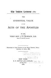 The Evidential Value of the Acts of the Apostles