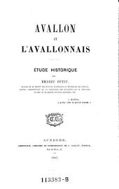 Avallon et l'Avallonhais. Etude historique