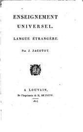 Enseignement universel: langue étrangère