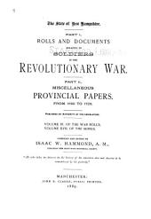Provincial and State Papers: Volume 17