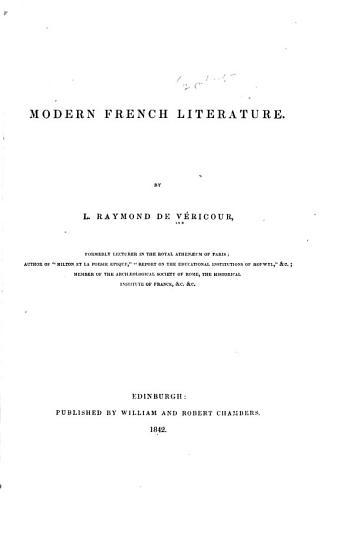 Modern French Literature PDF