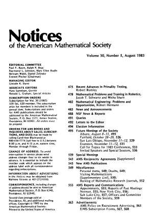 Notices of the American Mathematical Society PDF