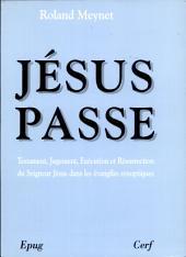 Jésus passe: Testament, jugement, exécution et résurrection du Seigneur Jésus dans les évangiles synoptiques