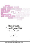 Semigroups, Formal Languages and Groups