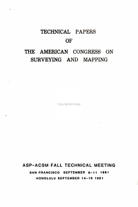 Technical Papers of the American Congress on Surveying and Mapping PDF