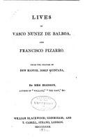 Lives of Vasco Nunez de Balboa  and Francisco Pizarro PDF
