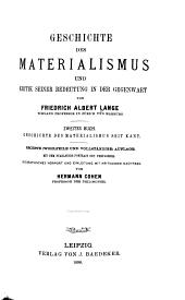 Buch. Geschichte des Materialismus seit Kant