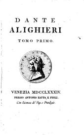 Dante Alighieri: Volume 1