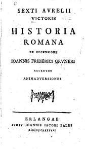 Historia Romana, ex recensione J.F. Gruneri: accedunt animadversiones