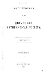Proceedings of the Edinburgh Mathematical Society: Volume 5