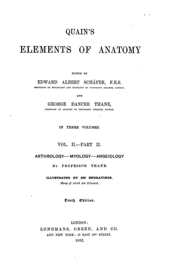 Quain's Elements of Anatomy