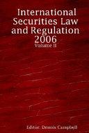 International Securities Law and Regulation PDF