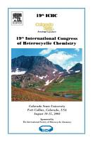 19th International Congress on Heterocyclic Chemistry PDF
