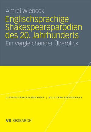 Englischsprachige Shakespeareparodien des 20  Jahrhunderts PDF