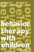 Behavior Therapy with Children PDF