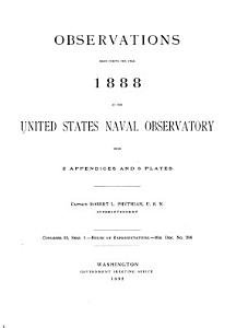 Astronomical  Magnetic and Meteorological Observations Made at the United States Naval Observatory PDF