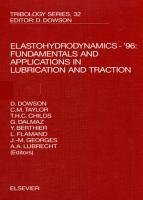 Elastohydrodynamics    96 PDF