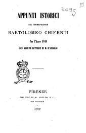 Appunti istorici di Bartolomeo Chifenti per l'anno 1849