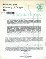 Marking the Country of Origin on Semiconductors PDF