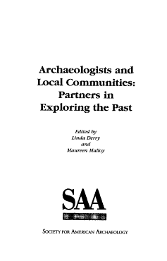 Archaeologists and Local Communities PDF