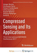 Compressed Sensing and Its Applications