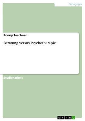 Beratung versus Psychotherapie PDF