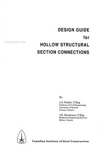 Design Guide for Hollow Structural Section Connections PDF