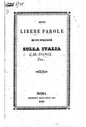 Sette libere parole di un italiano sulla Italia (marzo 1849.)