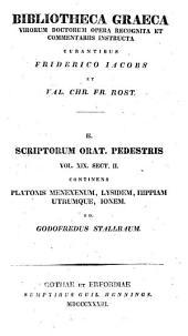 Platonis Opera omnia: Menexenum ; Lysidem ; Hippiam utrumque ; Ionem