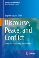 Discourse  Peace  and Conflict PDF
