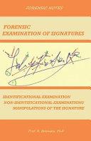 Forensic Examination of Signatures