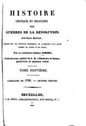 Histoire critique et militaire des guerres de la révolution: Volume9