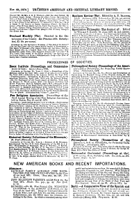 Tr  bner s American and Oriental Literary Record
