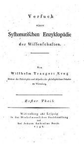 Versuch einer systematischen Enzyklopädie der Wissenschaften: Band 1