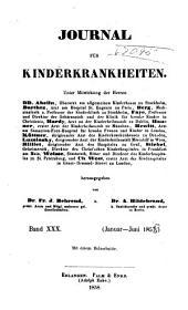 Journal für Kinderkrankheiten: Bände 30-31